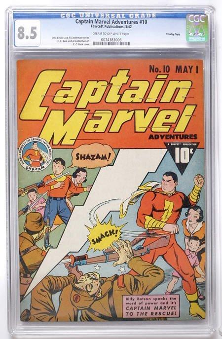 93019: Captain Marvel Adventures #10 Crowley CGC 8.5