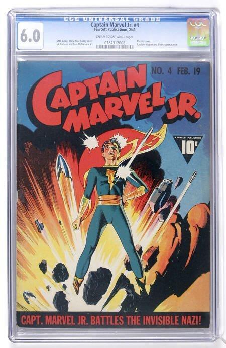 93021: Captain Marvel Jr. #4 (Fawcett, 1943) CGC FN 6.0
