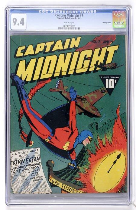 93022: Captain Midnight #7 Crowley Copy CGC 9.4