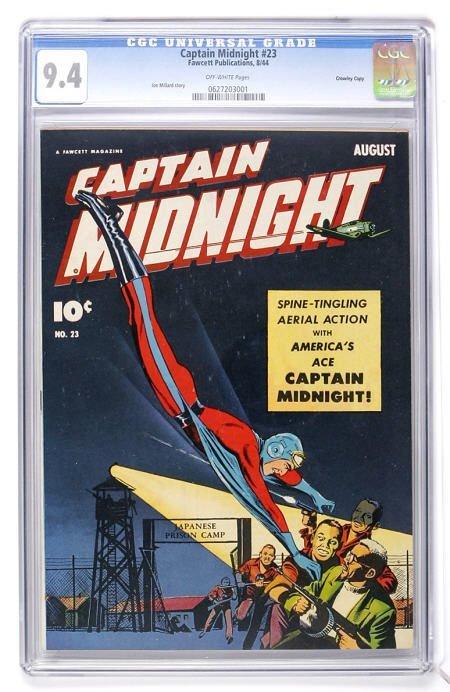 93024: Captain Midnight #23 Crowley Copy CGC 9.4
