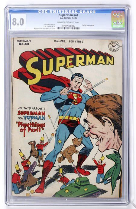 Superman #44 (DC, 1947) CGC VF 8.0 Cream to