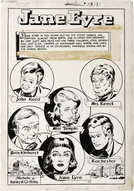 93501: Jane Eyre Classics Illustrated #39 Story Art '47