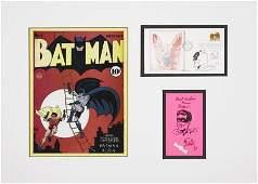 93610: Bob Kane Batman and Robin Sketches Original Art