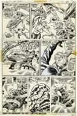 93462: John Buscema and Joe Sinnott Fantastic Four Art