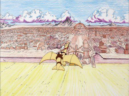 93785: Heavy Metal Taarna Animation Production Cel
