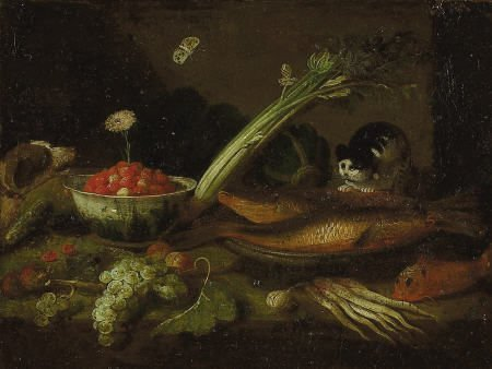 63004: Studio of JAN VAN KESSEL Kitchen Scene with