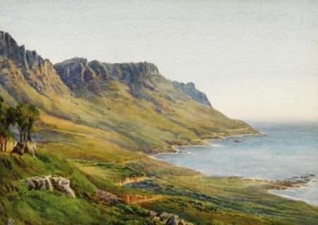 63014: EDWARD LEAR (British, 1812-1888) Coastal Landsca
