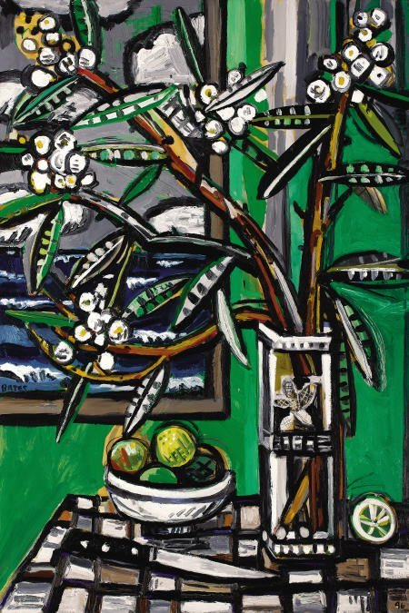 63244: DAVID BATES Oleander - Galveston, 1996 Oil on