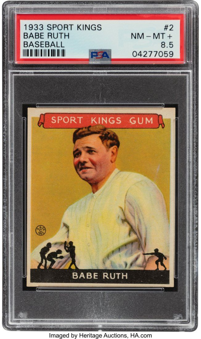 55469: 1933 Sport Kings Babe Ruth #2 PSA NM-MT+ 8.5 - P