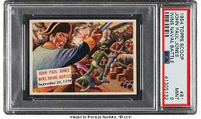 "56743: 1954 Topps Scoop ""John Paul Jones Wins Naval Bat"