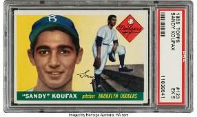 57047: 1955 Topps Sandy Koufax #123 PSA EX 5. Offered i