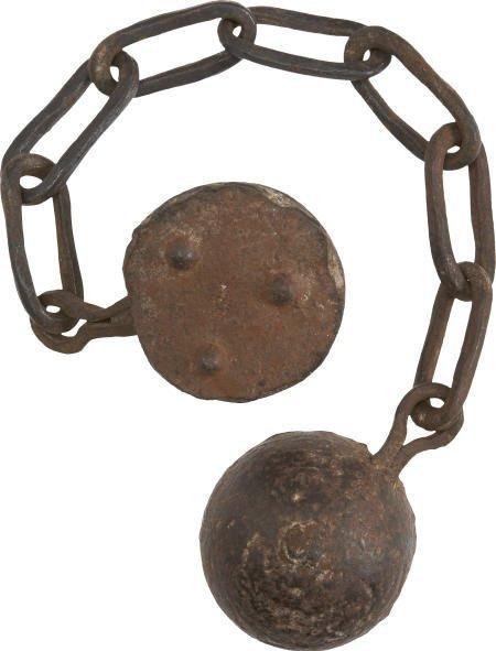 57001: Very Rare 18th Century Chain Shot