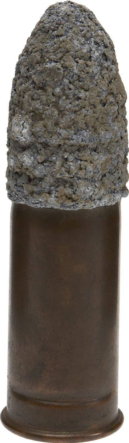 "57008: Inside Primed Copper Case 1"" Gatling Gun Round"