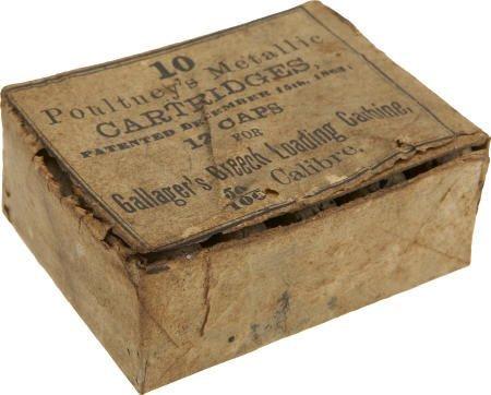 57014: Full Box of 10 Poultney's Metallic Cartridges