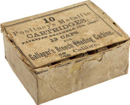 57015: Full Box of 10 Poultney's Metallic Cartridges