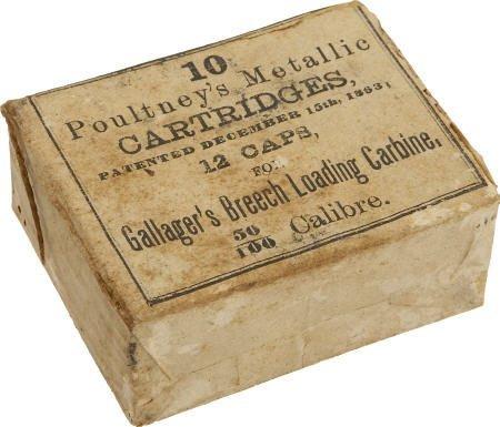 57016: Full Box of 10 Poultney's Metallic Cartridges