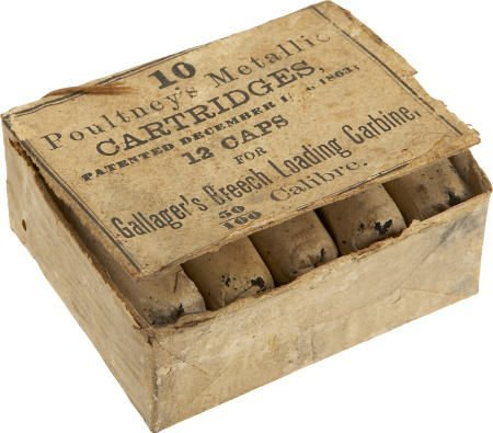 57017: Full Box of 10 Poultney's Metallic Cartridges