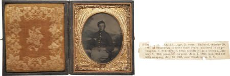 57018: 1/6 Plate Civil War Tintype Portrait 94th NY Inf
