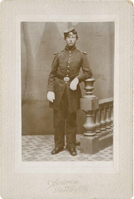 57023: Albumen Portrait of a Civil War Infantryman