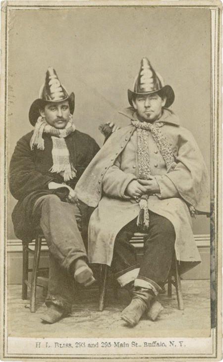 57288: Civil War Period CDV Portrait of Two Firemen