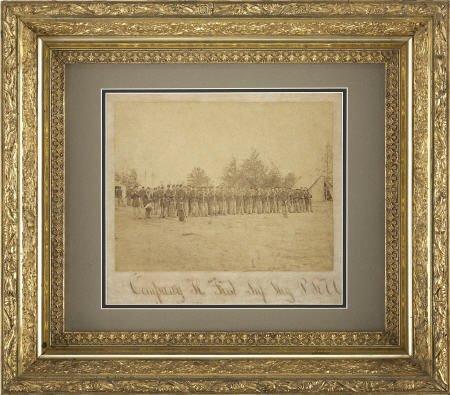 57290: Albumen View of Civil War Infantry Company