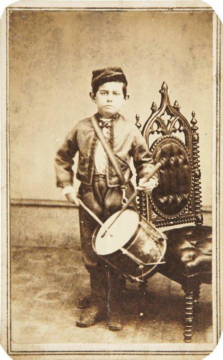 57294: CDV Civil War Period Drummer Boy.