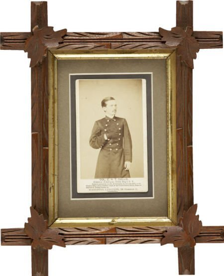 57295: CDV Civil War Zouave Col. Collins 114th regt