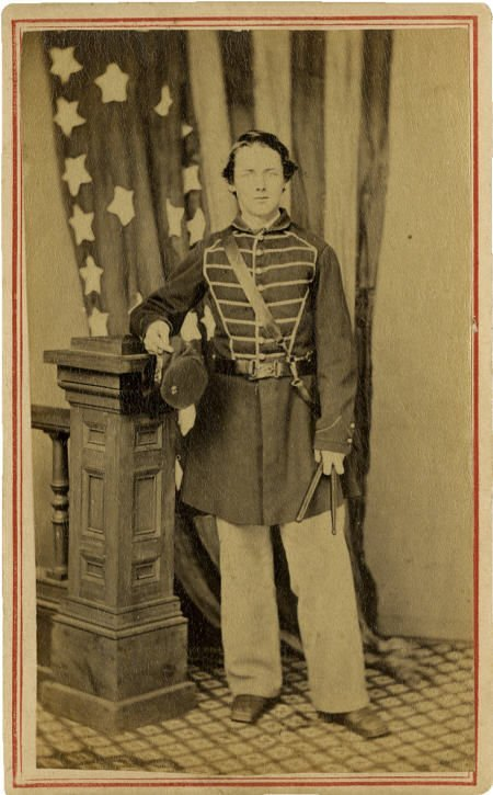 57298: Great CDV Portrait of a Young Federal Drummer