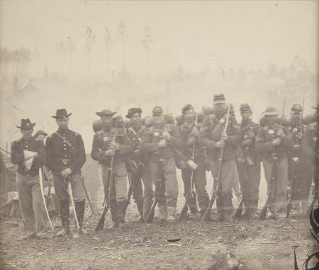 57304: Civil War Albumen View of an Infantry Group