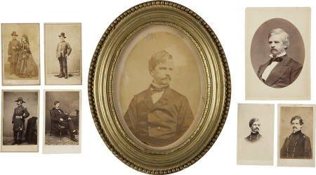 57305: Eight Photographs of Maj. Gen. Nathaniel Banks
