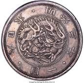 30245: Meiji silver Proof Pattern Yen Year 3 (1870) AU