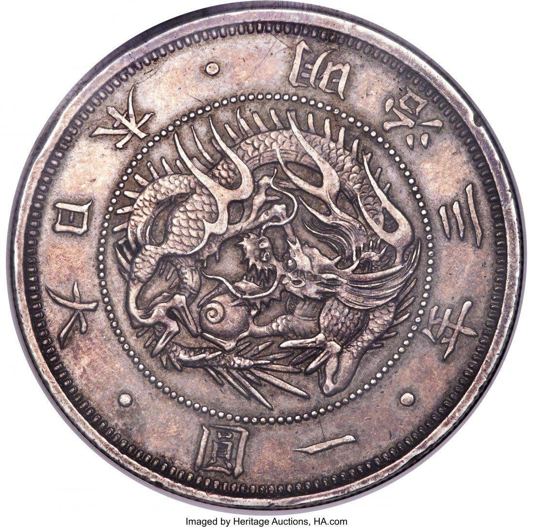 Meiji silver Proof Pattern Yen Year 3 (1870) AU