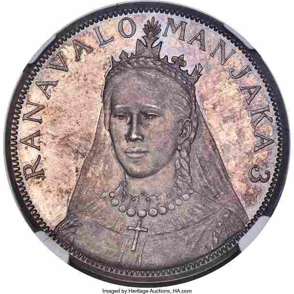 Ranavalona III silver Proof Pattern 5 Francs 189