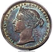 30192: Victoria silver Proof Pattern Shilling 1875 PR65