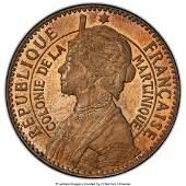 31813: French Colony copper-nickel Specimen Piefort Ess