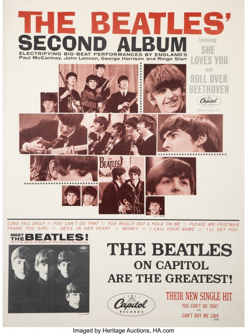 89021: The Beatles' Second Album Poster Matted and Fram