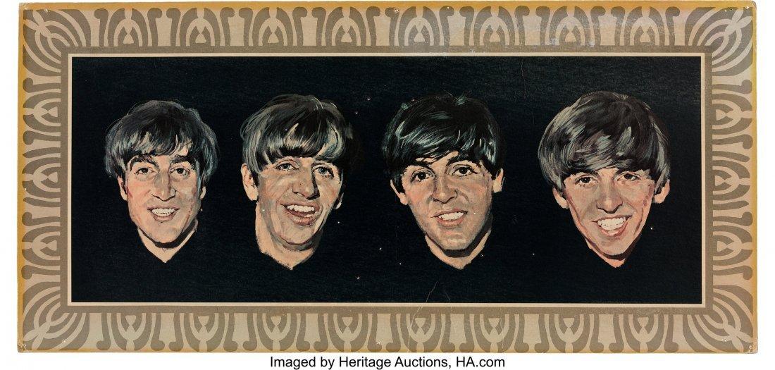 89036: The Beatles Vee-Jay Records Cardboard Promo Post