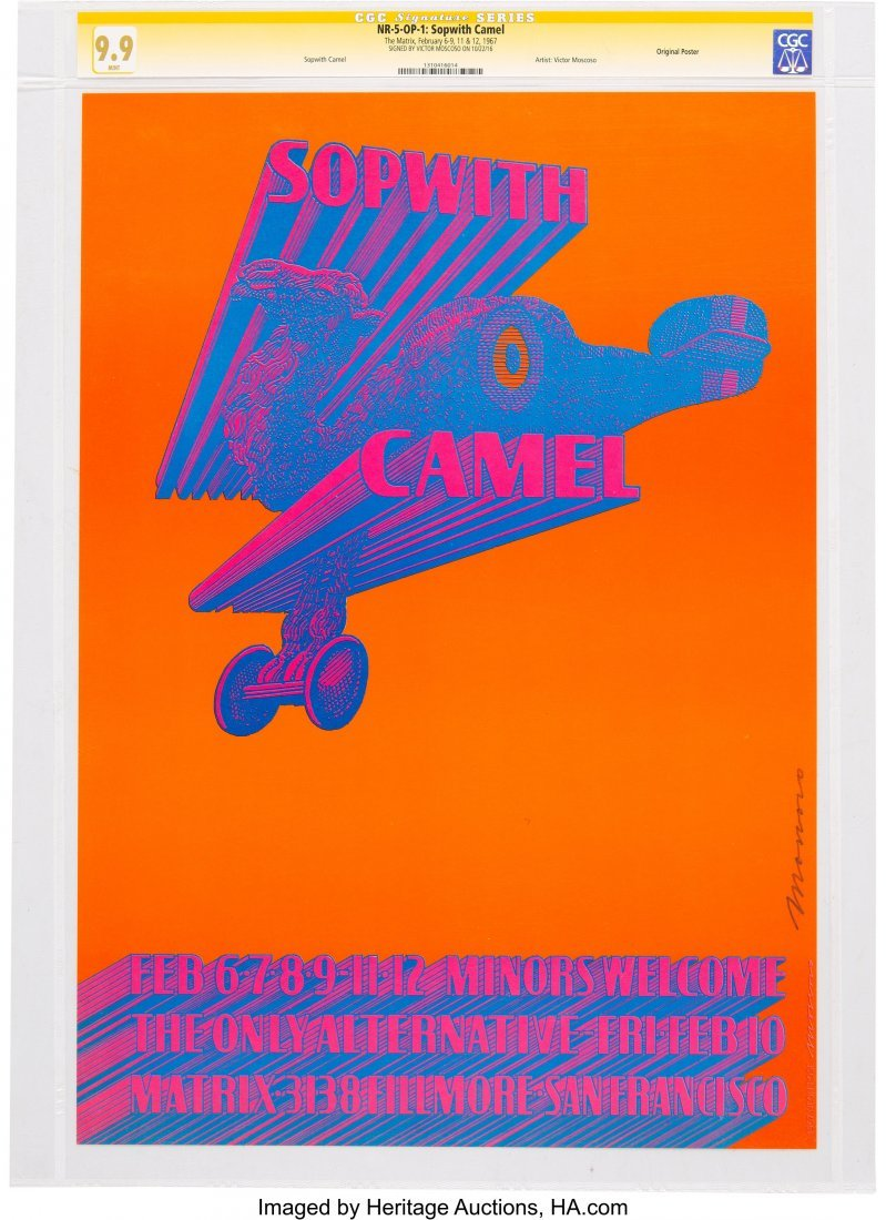 89133: Neon Rose-5 Sopwith Camel 1967 Concert Poster Si