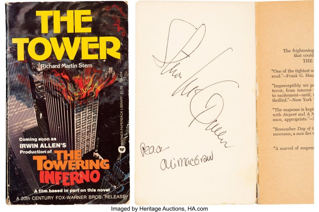 89351: Steve McQueen and Ali MacGraw Signed Copy of The