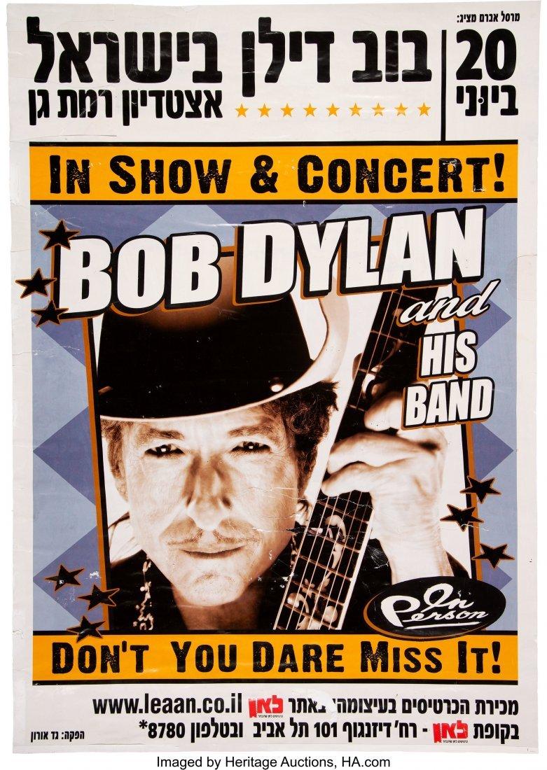 89540: Bob Dylan 2011 Tel Aviv, Israel Concert Poster.