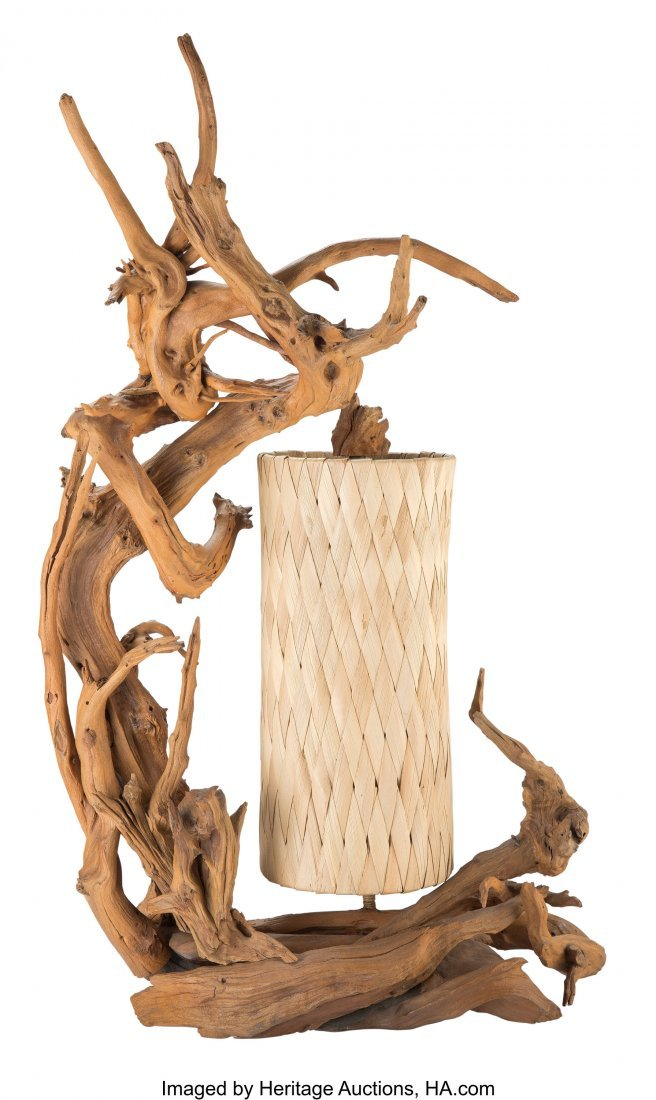 67099: American School (20th Century) Driftwood Table L
