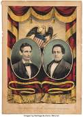 43077: Lincoln & Hamlin: Grand National Banner. Small f