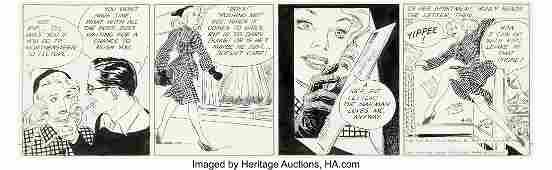94003: Alex Raymond Rip Kirby Daily Comic Strip Origina