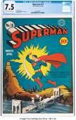 96136: Superman #15 (DC, 1942) CGC VF- 7.5 Cream to off