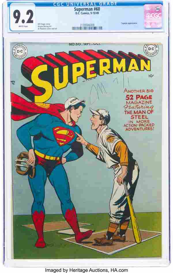 Superman #60 (DC, 1949) CGC NM- 9.2 White pages.