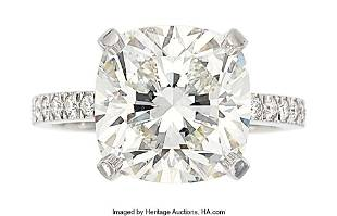 55024: Diamond, Platinum Ring, Tiffany & Co. The ring