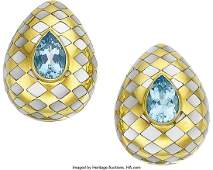 55158 Aquamarine MotherofPearl Gold Earrings Ange