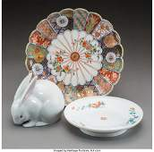 28052: A Group of Three Japanese Porcelain Table Articl