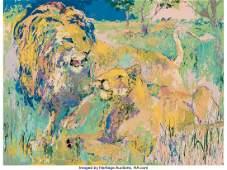 28165: LeRoy Neiman (American, 1921-2012) Lion Couple,
