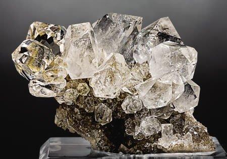 """41002: """"HERKIMER DIAMOND"""" QUARTZ ON MATRIX"""